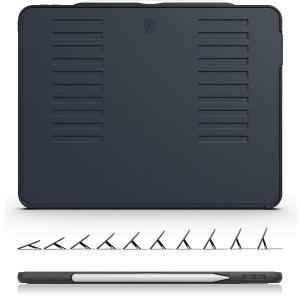 ZUGU CASE - iPad Pro 12.9 ケース 2018 第3世代 The Muse Case 極薄 落下衝撃保護 10段階スタンド機能 オートスリープ スマートカバー (ブラック) notorious