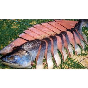 【御歳暮 ギフト】新巻鮭1本(姿切り身) 2.5kg+前後/1尾【6】|notosuisan