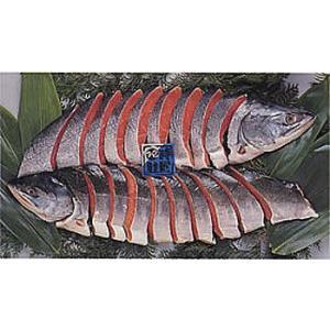 【御歳暮 ギフト】新巻鮭(姿切り身) 3.2kg前後 1尾【7】|notosuisan