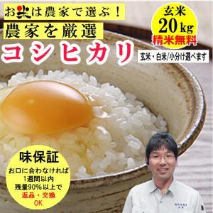 玄米 20kgコシヒカリ 生産農家を井澤商店4代目が厳選吟味 精米無料 玄米/白米選べます 稲美金賞農家の米 令和2年兵庫県産|noukamai
