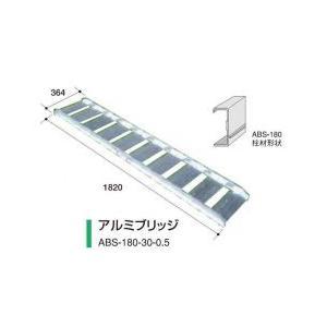 アルミス アルミブリッジ ABS-180-30-0.5 2本セット/軽量/高強度 noukigu