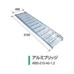 アルミス アルミブリッジ ABS-210-40-1.2 2本セット/軽量/高強度 noukigu