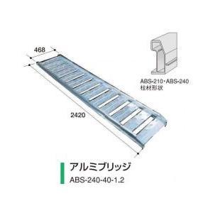 アルミス アルミブリッジ ABS-240-40-1.2 2本セット/軽量/高強度 noukigu