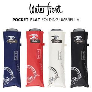 ウォーターフロント/Waterfrontの折りたたみ傘、ポケフラット55UV。美術作品とのコラボレー...