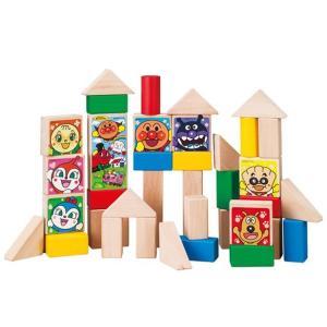 アンパンマンの人気キャラクターがプリントされた積み木のセットです。 40ピース入り。 筒型のパッケー...