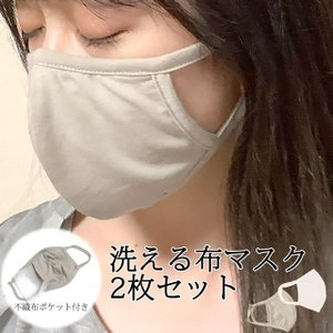 洗える 布マスク 2枚入り ファッションマスク おしゃれ 小さめ 洗って繰り返し使える 不織布付き レディース 子供 マスク|novice-sf