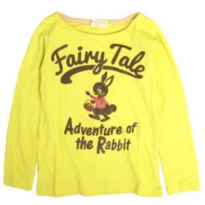 長袖 Tシャツ 子供 キッズ 女の子 ウサギ かわいいプリント 子供服 novice-sf