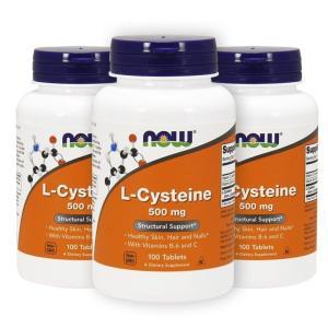 ナウフーズ Lシステイン 500mg 100錠 3本セット L-Cysteine 500mg 100...