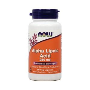 ナウフーズ アルファリポ酸 250mg 60ベジカプセル Now Foods Alpha Lipoi...