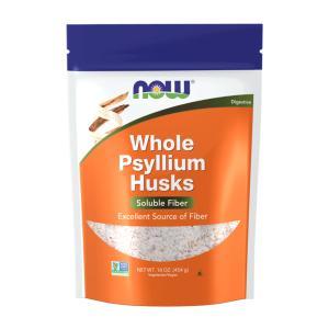 ナウフーズ 全粒オオバコ殻 454g Now Foods Psyllium Husks, Whole...