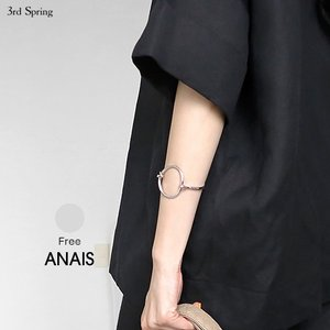 韓国 ファッション バングル レディース シルバーバングルブレスレット|nowistyle-y