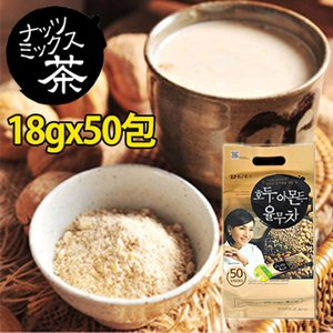 お茶 ハトムギ茶 [ ダムト ] ナッツミックス茶 18g×50包入り お茶/ユルム/ハトムギ茶/健康飲料/韓国茶/韓国食品/くるみ/アモンド|nowmall