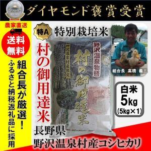 【送料無料】29年産 白米5kg コシヒカリ「野沢温泉物語 村の御用達米」 減農薬・有機肥料