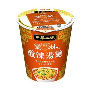 送料無料 明星食品 中華三昧タテ型 赤坂榮林 酸辣湯麺(スーラータンメン) 66g×12個入|nozomi-market
