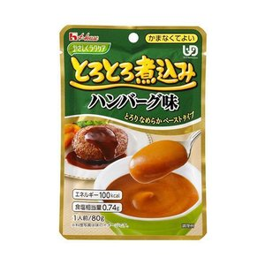 【送料無料】ハウス食品 やさしくラクケア とろとろ煮込みのハンバーグ味 80g×40個入 nozomi-market