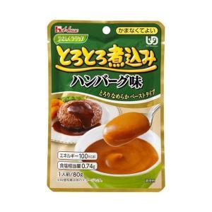 【送料無料】【2ケースセット】ハウス食品 やさしくラクケア とろとろ煮込みのハンバーグ味 80g×40個入×(2ケース) nozomi-market