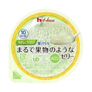 【送料無料】ハウス食品 やさしくラクケア まるで果物のようなゼリー メロン 60g×48(12×4)個入 nozomi-market