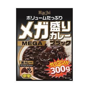 【送料無料】【2ケースセット】ハチ食品 メガ盛りカレー ブラック 中辛 300g×20個入×(2ケース) nozomi-market