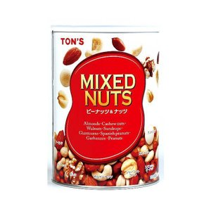 【送料無料】東洋ナッツ食品 トン ミックスナッツ缶 355g缶×12個入|nozomi-market