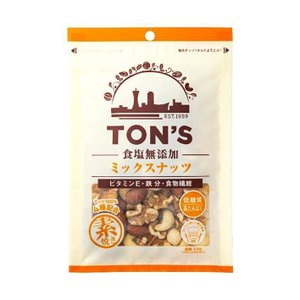 【送料無料】東洋ナッツ食品 トン 食塩無添加 ミックスナッツ 85g×10袋入|nozomi-market