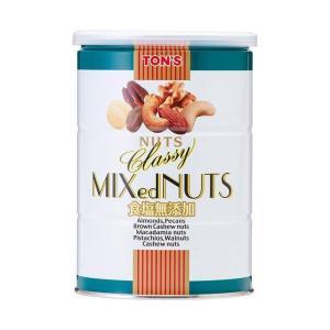 【送料無料】東洋ナッツ食品 トン 食塩無添加 クラッシー ミックスナッツ 360g缶×6個入|nozomi-market