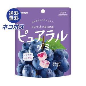 【全国送料無料】【ネコポス】カバヤ ピュアラルグミ ぶどう 58g×8袋入|nozomi-market