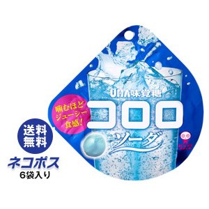 【全国送料無料】【ネコポス】送料無料 UHA味覚糖 コロロ ソーダ 40g×6袋入 nozomi-market