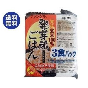 【送料無料】神明 ファンケル 発芽米ごはん (160g×3P)×8袋入|nozomi-market