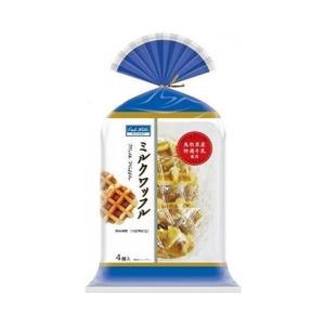 【送料無料】【2ケースセット】丸中製菓 ミルクワッフル 4個×6袋入×(2ケース)|nozomi-market