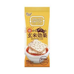 送料無料 【2ケースセット】幸福米穀 朝からサクッと玄米効果 ブラウンライスケーキ 15枚×12(6×2)袋入×(2ケース) nozomi-market