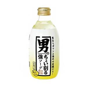 【送料無料】木村飲料 カクテス 男のちょい割る強ソーダレモン 300ml瓶×24本入|nozomi-market