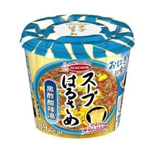 送料無料 エースコック スープはるさめ 黒酢酸辣湯 34g×12(6×2)個入|nozomi-market