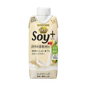 送料無料 カゴメ 野菜生活 Soy+(ソイプラス) まろやかプレーン 330ml紙パック×12本入|nozomi-market
