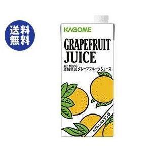 【送料無料】【2ケースセット】カゴメ グレープフルーツジュース(ホテルレストラン用) 1L紙パック×12(6×2)本入×(2ケース) nozomi-market