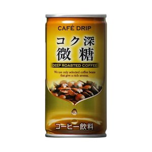 送料無料 富永貿易 カフェドリップ コク深微糖 185g缶×30本入|nozomi-market
