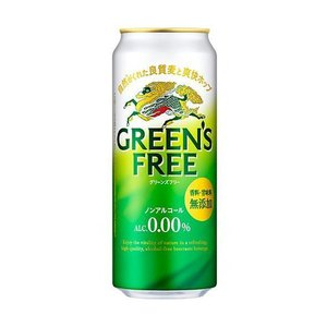送料無料 キリン GREEN'S FREE(グリーンズフリー) 500ml缶×24(6×4)本入|nozomi-market