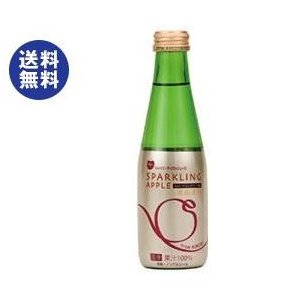 送料無料 青森県りんごジュース シャイニー スパークリングアップル 200ml瓶×24本入|nozomi-market