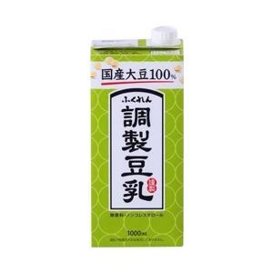 【送料無料】【2ケースセット】ふくれん 九州産ふくゆたか大豆 調製豆乳 1L紙パック×12(6×2)本入×(2ケース)|nozomi-market