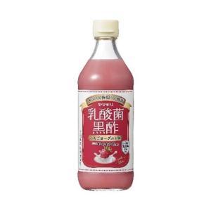 送料無料 ヤマモリ 乳酸菌黒酢 いちごヨーグルト味 500ml瓶×6本入|nozomi-market