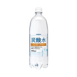 送料無料 サンガリア 炭酸水 1Lペットボトル×12本入|nozomi-market
