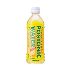 送料無料 サンガリア ポストニックウォーター レモン 500mlペットボトル×24本入|nozomi-market