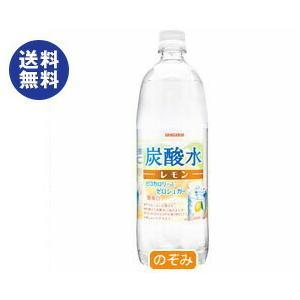 【送料無料】サンガリア 炭酸水 レモン 1Lペットボトル×12本入|nozomi-market