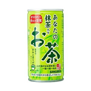 【送料無料】【2ケースセット】サンガリア 一休茶屋 あなたの抹茶入りお茶 190g缶×30本入×(2ケース) nozomi-market