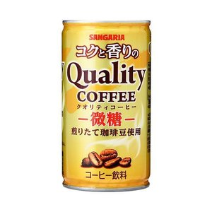 送料無料 サンガリア コクと香りのクオリティコーヒー 微糖 185g缶×30本入|nozomi-market