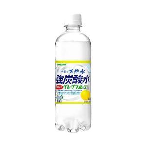 【送料無料】サンガリア 伊賀の天然水 強炭酸水 グレープフルーツ 500mlペットボトル×24本入|nozomi-market