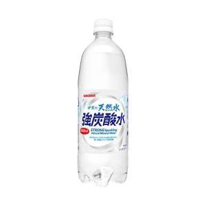 【送料無料】サンガリア 伊賀の天然水 強炭酸水 1Lペットボトル×12本入|nozomi-market