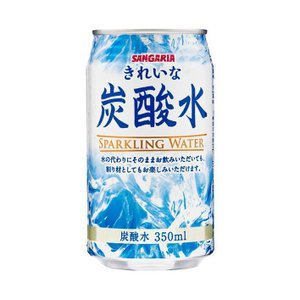 【送料無料】サンガリア きれいな炭酸水 350ml缶×24本入|nozomi-market