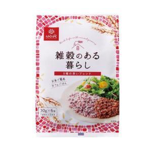 【送料無料】はくばく 雑穀のある暮らし 赤いブレンド(八穀) 180g(30g×6袋)×6袋入|nozomi-market