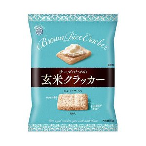 【送料無料】【2ケースセット】雪印メグミルク チーズのための玄米クラッカー 15g×8袋入×(2ケース)|nozomi-market