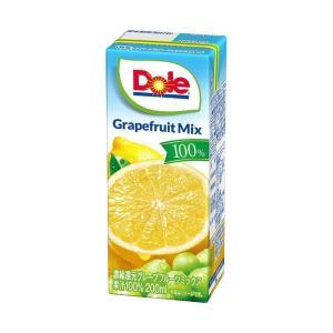 【送料無料】【2ケースセット】Dole(ドール) グレープフルーツ 100% 200ml紙パック×18本入×(2ケース) nozomi-market